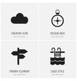 set of 4 editable holiday icons includes symbols vector image