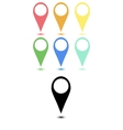 Set of flat map points vector image