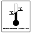 Temperature limits Cargo signs Temperature vector image