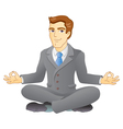 Business meditation vector image vector image