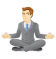 Business meditation vector image