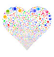 weight fireworks heart vector image