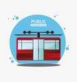 cable railway public transport vector image