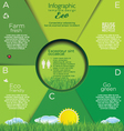 Infographic ecology template design vector image