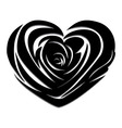 Flower love heart valentine day tattoo vector image