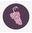 Hand-drawn grape ripe icon vector image