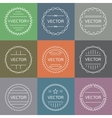 Set of emblems and badges vector image