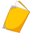 Book with yellow cover vector image