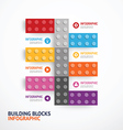 Infographic color building blocks banner Template vector image