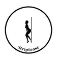 Stripper night club icon vector image vector image