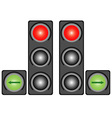 City traffic light vector image