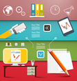 Office Items - Flat Design Business or Technology vector image