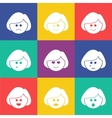 smiles square flat vector image