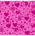 val pattern magenta vector image