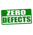 zero defects sign or stamp vector image