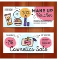 set of discount coupons for make up vector image