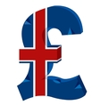 Sign of the money to great britain vector image