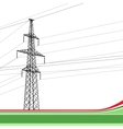 High-voltage tower background vector image