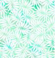 Tropical white and green leaves in a seamless vector image vector image