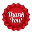 Thank you tag red round star sticker vector image vector image