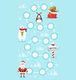 Christmas board game vector image