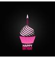 Cupcake design menu background vector image