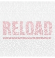 reload code background vector image vector image