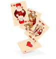Hearts play cards vector image
