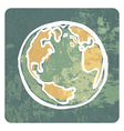 Earth grunge icon vector image vector image