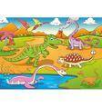 cute dinosaurs cartoon vector image vector image