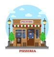 City italian pizzeria facade front view vector image