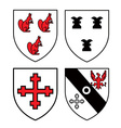 Authentic medieval heraldry shields vector image