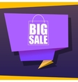 Big sale origami banner vector image