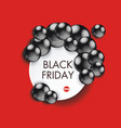 black friday sign design with paper banner and vector image
