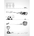 Football sketch banners vector image