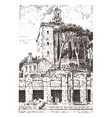government building ruins in italy roman forum vector image