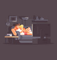 married couple watching tv vector image