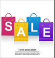sale wording on shoping bags on white background vector image