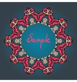 Stylized mandala frame with place for text vector image