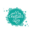 turquoise round background with snowflakes on vector image