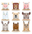 Domestic animals icon set vector image
