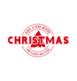 merry christmas emblem calligraphy vector image