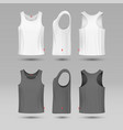 mans white blank tank singlet male shirt without vector image