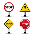stop sign vector image vector image