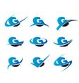 Alphabet G Logo Icons vector image vector image