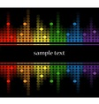 background with multicolored equalizer vector image