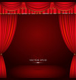 Red and gold theater curtain classic vector image