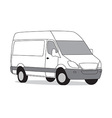 Delivery van white vector image vector image