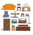 Furniture for bedroom vector image