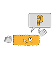 joke brick have a question why he is rectangle vector image
